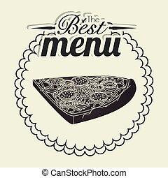 Pizza italian food