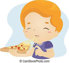 pizza, kůzle