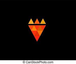 Pizza king logotype. Pizzeria fast food vector logo.
