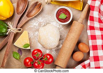 pizza, kochende bestandteile