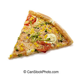 pizza, lebensmittel
