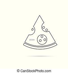 pizza line illustration