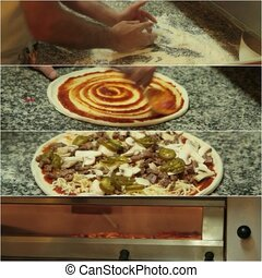 Pizza making - 1080 HD Video
