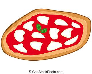 pizza, margherita.