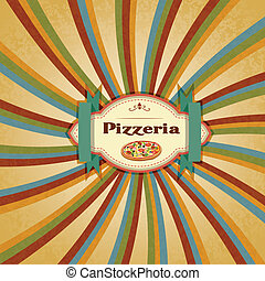 Pizza Menu - easy to edit vector illustration of pizza menu...