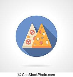 Pizza menu flat color design vector icon