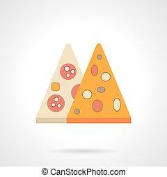 Pizza menu flat color vector icon