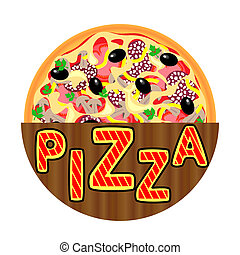 Pizza Menu Template, Pizza icon