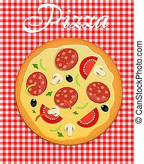 Pizza menu template vector illustration