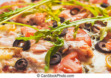 garnele olive lachs pizza garnele oliven lachs pizza. Black Bedroom Furniture Sets. Home Design Ideas