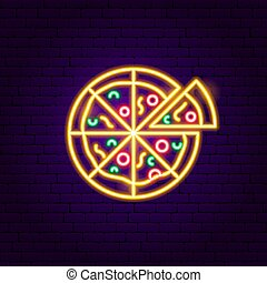 Eat pizza or die neon sign  It's a vector neon sign
