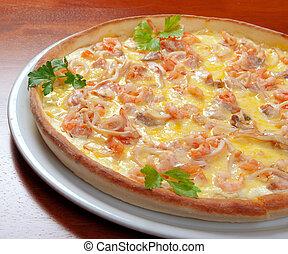 pizza, nourriture, fruits mer, jeûne