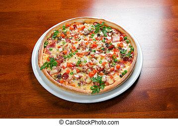 pizza, nourriture, jeûne