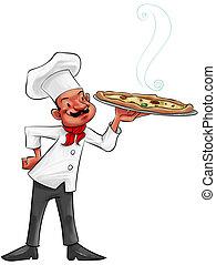 pizza obsadzają