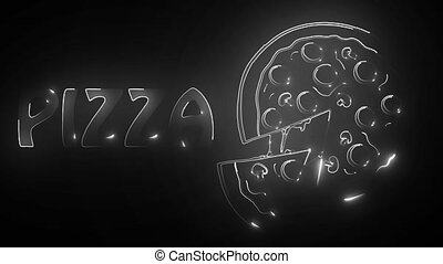 pizza on isolate background video - pizza on isolate...