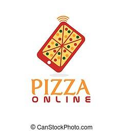 pizza online concept flat design