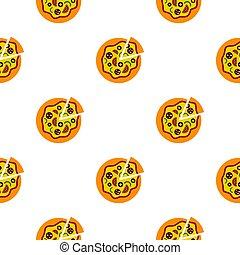 Pizza pattern flat
