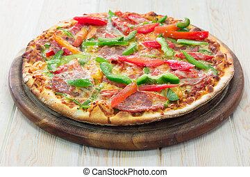 pizza, pepperoni