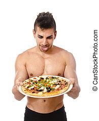 pizza, pokusa