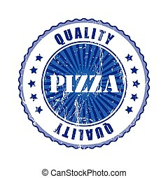Pizza Quality Stamp.