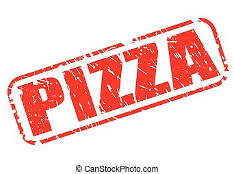 Pizza red stamp text