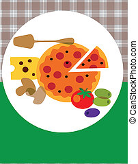 pizza restaurant menu design. vector illustration