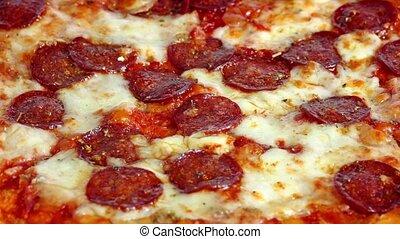 Pizza Rotating Closeup