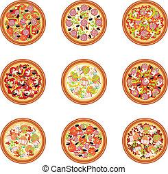 pizza, sätta