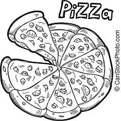 pizza, scarabocchiare
