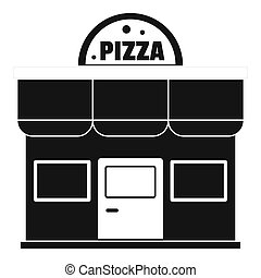 Pizza shop icon, simple style.