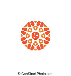 Pizza sign. Vector Illustration.