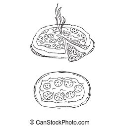 pizza sketch