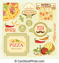 pizza slice and vox - pizza slice and ingredients...