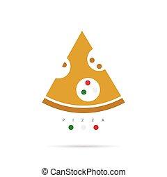 pizza slice color illustration