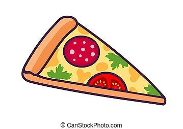 pizza, slice.