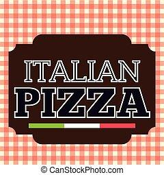 Pizza Stamp Brown Logo Italian Vector