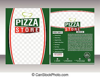 pizza store flyer template design &
