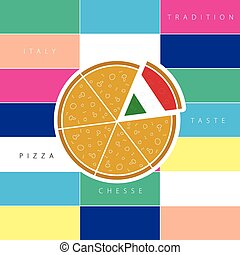 pizza taste italy illustration