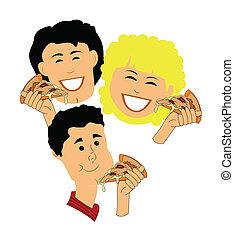 pizza, temps