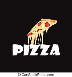 pizza , vector icon on white background