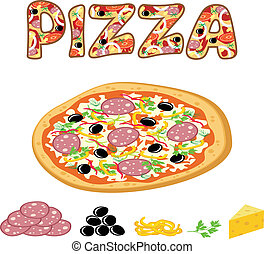 Pizza - Vector illustration. It is created in the Corel Draw...