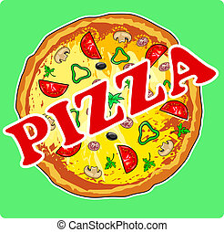 Pizza - Vector illustration of pizza