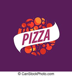 pizza vector logo - Pizza template design logo. Vector...
