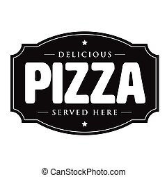 Pizza vintage sign retro