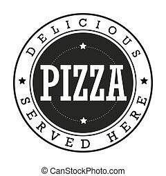 Pizza vintage stamp logo
