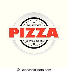 Pizza vintage stamp sign