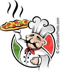 pizza, vrchní kuchař