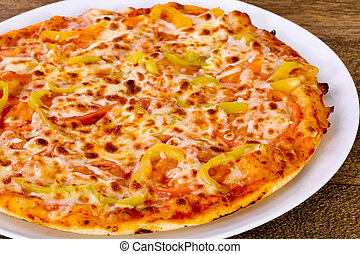 Pizza with bell pepper