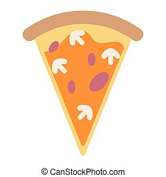 Pizza with mushrooms italian food