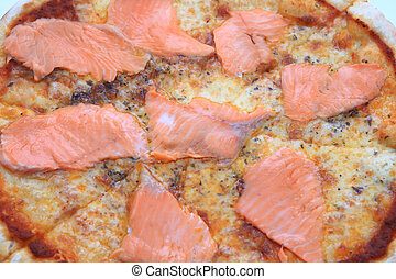 Pizza with Salmon